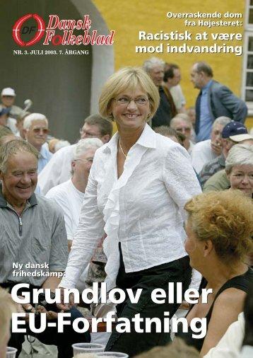 ude i danmark - Dansk Folkeparti