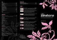 Du kan se hele vores menukort i PDF format her. - Zakabona