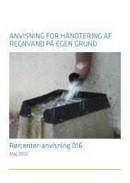 ANVISNING FOR HÅNDTERING AF REGNVAND PÅ EGEN GRUND ...