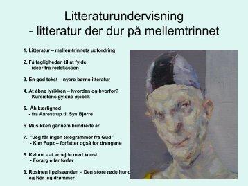 Litteraturundervisning - litteratur der dur på mellemtrinnet