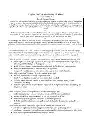 Årsplan 2012/2013 for biologi i 9. klasse