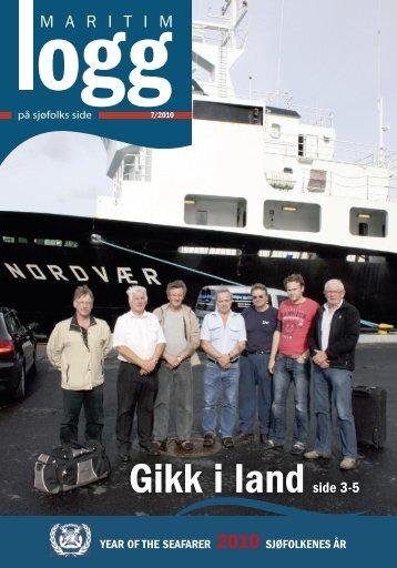 Gikk i landside 3-5 YEAR OF THE SEAFARER 2010 ... - TVU-INFO
