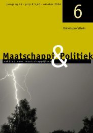 & P o l i t i e k M a a tsc h a p p i - Maatschappij en Politiek Magazine