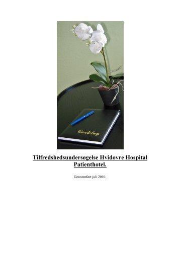Tilfredshedsundersøgelse 2010 - Hvidovre Hospital