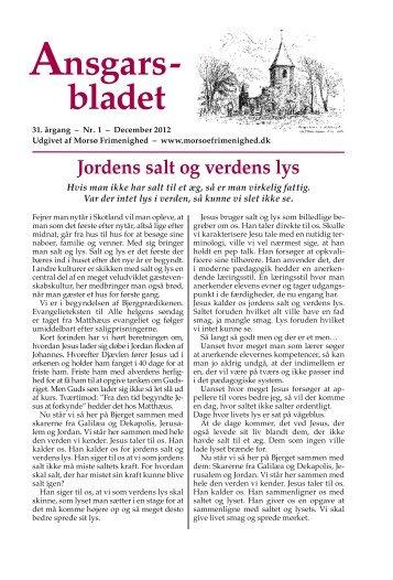 Ansgars- bladet - Morsø Frimenighed