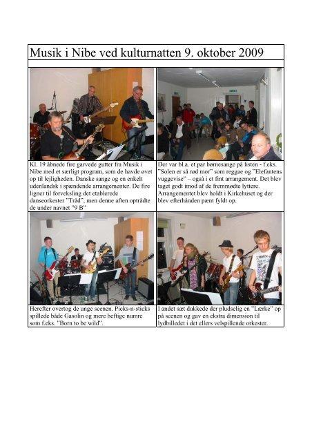 Musik i Nibe ved kulturnatten 9. oktober 2009