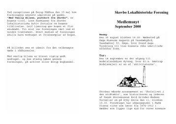 Medlemsnyt - Skovbo Lokalhistoriske Forening