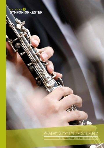 program: gensyn med aeschbacher - Aalborg Symfoniorkester