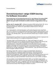 Domstolsstyrelsen vælger ESDH-løsning fra Software Innovation