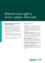 Electrosurgery and Latex Gloves - Ansell Healthcare Europe