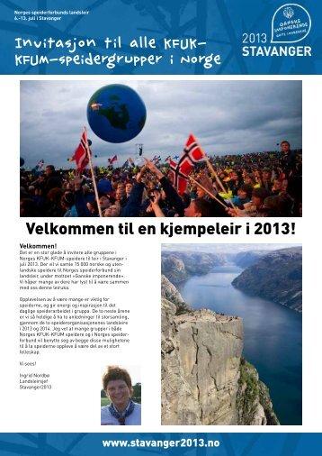 Invitasjon til alle KFUK- KFUM-speidergrupper i Norge