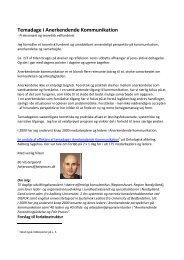 Temadage i Anerkendende Kommunikation - fair proces