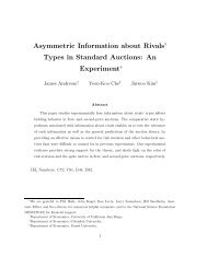 Asymmetric Information about Rivals' Types in ... - web.yonsei.ac...