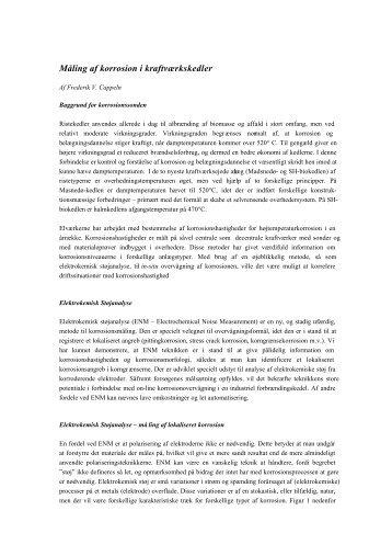 Måling af korrosion i kraftværkskedler