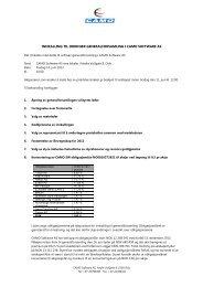 innkalling til ordinær generalforsamling i camo software as