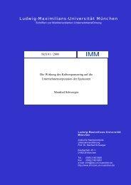 Arbeitspapier 0106 - Institut für Marktorientierte ...