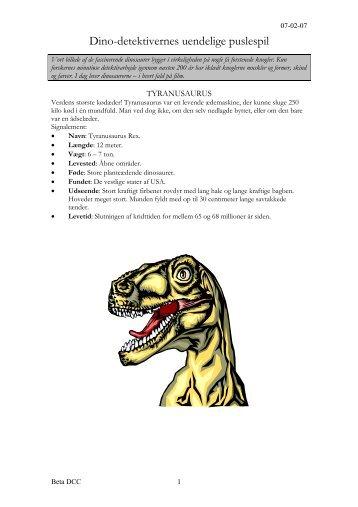 Dino-detektivernes uendelige puslespil