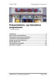 Præsentations- og interaktive programmer - Pædagogisk it-kørekort
