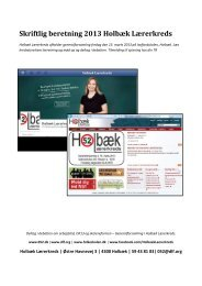 Skriftlig beretning 2013 Holbæk Lærerkreds