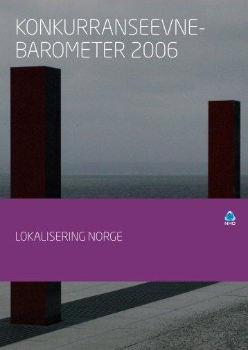 Konkurransebarometer NHO 06 - Nopef