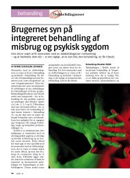 Brugernes syn på integreret behandling af misbrug og psykisk ... - Stof