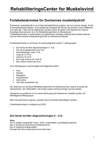 Printvenlig version - RehabiliteringsCenter for Muskelsvind