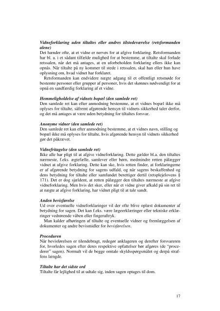 Om behandlingen af straffesager Her kan du læse en ... - Domstol.dk