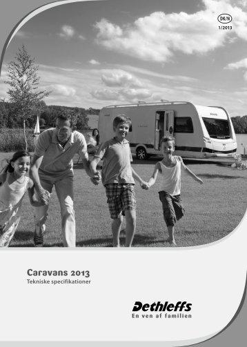 Tekniske data/Prisliste campingvogne 2013 - Dethleffs