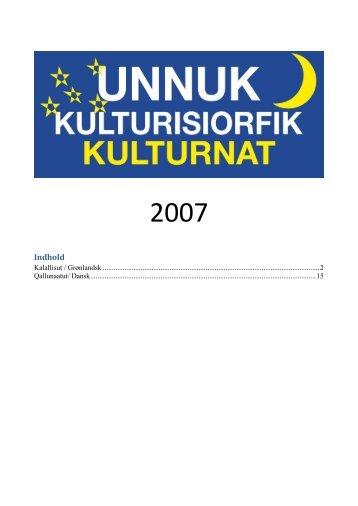 2007 - Unnuk Kulturisiorfik
