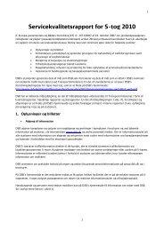 Servicekvalitetsrapport for S+tog 2010 - DSB