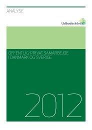 Analyse - Offentlig-privat samarbejde i Danmark og Sverige - OPI-Lab