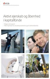 Aktivt ejerskab og åbenhed i kapitalfonde - DVCA