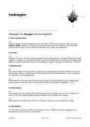 Forslag til vedtægter - Amager Orienteringsklub