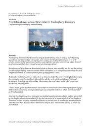 Notat om Vordingborg havne - Sejlklubben Ulvsund Kalvehave