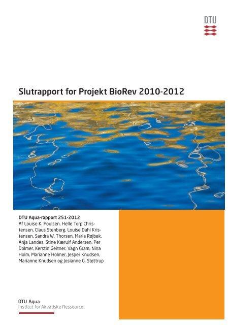 Slutrapport for Projekt BioRev 2010-2012 - Danmarks Tekniske ...