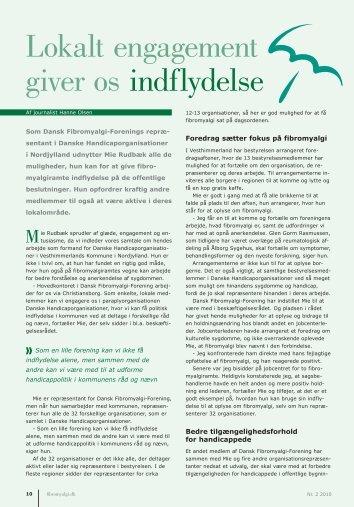 Lokalt engagement giver os indflydelse - Dansk Fibromyalgi-Forening