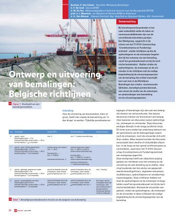 Belgische richtlijnen - GeoTechniek