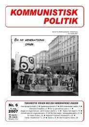 Kommunistisk Politik 6, 2007