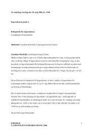 FORTRYK LANDSTINGETS FORÅRSSAMLING 2006 1 ... - Inatsisartut
