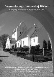 Vemmelev Kirke nr. 3 2010.indd - Vemmelev og Hemmeshøj kirker