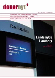 Donor Nyt - Bloddonorerne i Danmark