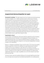 Ausgezeichnete Nachwuchslogistiker bei Logwin