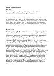 Populärvetenskaplig sammanfattning - Institutionen för biologisk ...