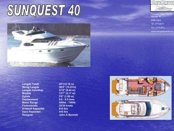 Produktark SQ 40 - SunQuest Motor Yachts Norway