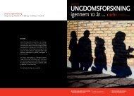 10 år med dansk ungdomsforskning - Konteksten