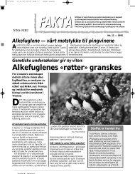 Alkefuglenes «røtter» granskes - NINA