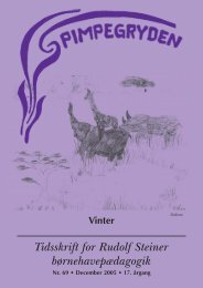 Tidsskrift for Rudolf Steiner børnehavepædagogik - Pimpegryden