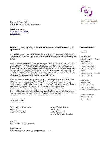 HO-FAKU01@mil.dk ho@mil.dk Positiv akkreditering a - Danmarks ...