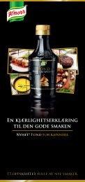 EN kjæRLIGhETSERkLæRING TIL DEN GODE SMAkEN - Knorr