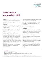 Værd at vide om at rejse i USA - Albatros Travel